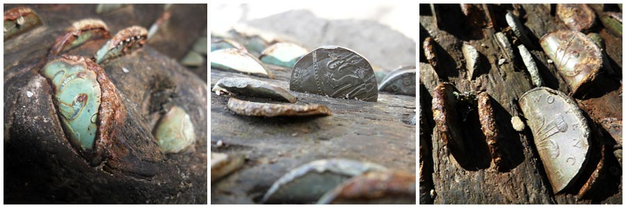 Coins at the Tarr Steps